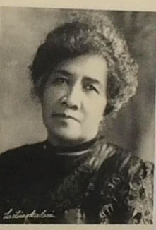 black and white image of Queen Liliuokalani