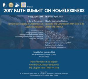 2nd Annual Faith Summit on Homelessness - flyer