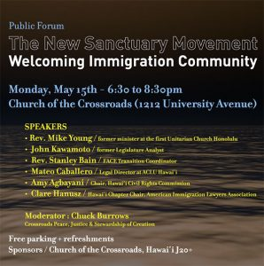 The New Sanctuary Movement: Welcoming Immigration Community flyer image